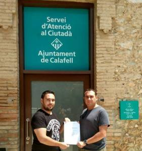 Entrega de la petició al Servei d'Atenció al Ciutadà